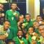 شادی بازیکنان نیجریه در محل اقامت بعد از مقام سومی المپیک ریو