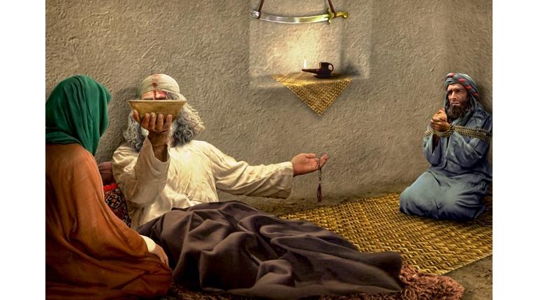 مهربانی امام علی(ع) در بستر شهادت / پوستر