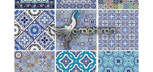 دانلود مجموعه پترن کاشی کاری اسلامی و سنتی