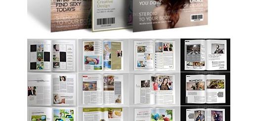 دانلود مجموعه تصاویر لایه باز قالب ایندیزاین مجله های متنوع