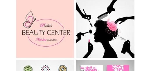 دانلود تصاویر وکتور عناصر طراحی مرکز زیبایی