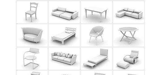 دانلود مدل های آماده سه بعدی آرچ مدل - صندلی، میز، تخت و ... - شماره 1
