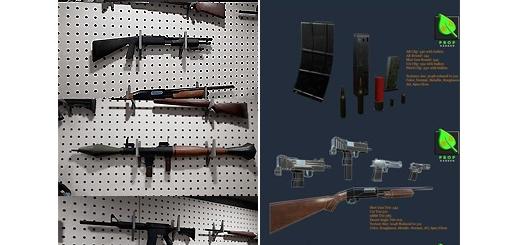 دانلود مجموعه مدل های آماده سه بعدی وسایل جنگی، تفنگ، اسلحه، کلت، شمشیر و ...