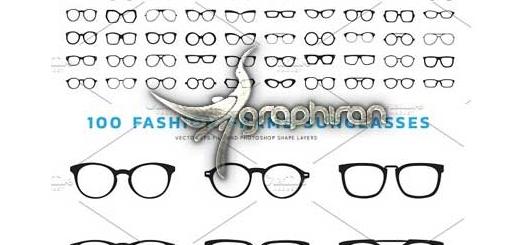 دانلود ۱۰۰ طرح لایه باز عینک