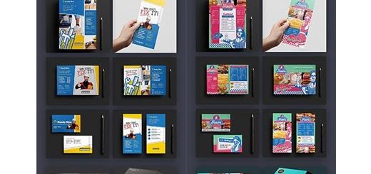دانلود مجموعه بزرگ تصاویر لایه باز و وکتور بروشورهای تجاری متنوع به همراه آموزش ویدئویی