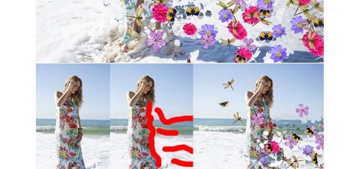 دانلود اکشن فتوشاپ ایجاد افکت پراکندگی گل و بوته بر روی تصاویر