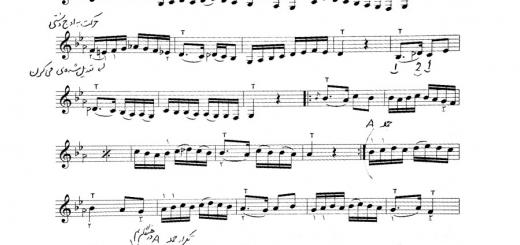 نت پیش درآمد دشتی موسی معروفی درس ۶۴ هنرستان تار ۱ با حاشیه نویسی نیما فریدونی
