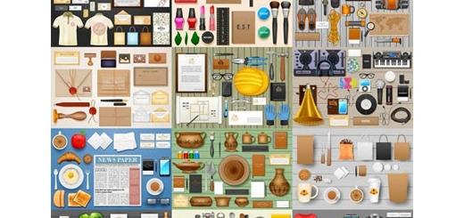 دانلود مجموعه تصاویر وکتور ست های تجاری مختلف