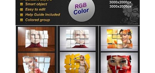 دانلود 11 قالب لایه باز فریم سه بعدی تصاویر