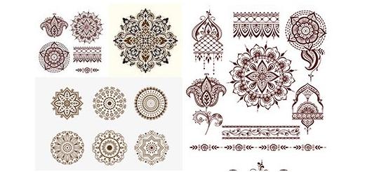 دانلود تصاویر وکتور عناصر تزئینی ماندالا