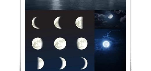 دانلود تصاویر با کیفیت ماه، ماه در آسمان، ماه پشت ابر
