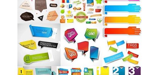 دانلود تصاویر وکتور عناصر طراحی برچسب عناوین