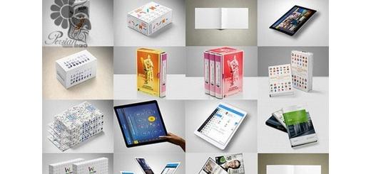 دانلود مجموعه تصاویر لایه باز قالب پیش نمایش یا موکاپ اشیاء مختلف، باکس، تی شرت، بیلبورد، موبایل و ...