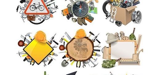 دانلود تصاویر وکتور مفهومی و عناصر طراحی شغل های متنوع