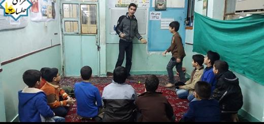 مسابقه گذراندن توپ از موانع 11 بهمن 95