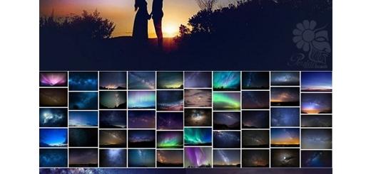 دانلود 50 تصویر کلیپ آرت بک گراند شب مهتاب و پرستاره به همراه آموزش ویدئویی