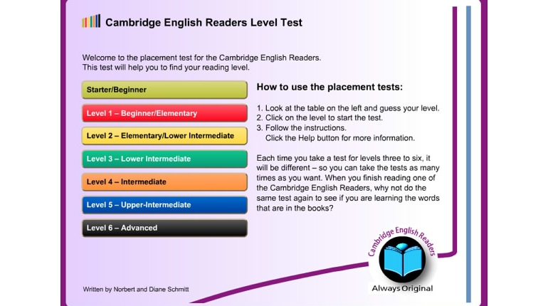 تست سطح لغات English Reader Level Test