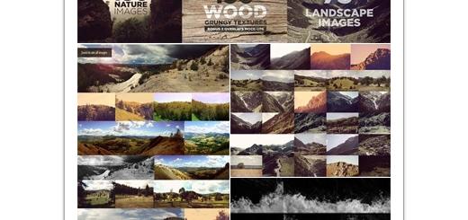 دانلود مجموعه بزرگ تصاویر با کیفیت متنوع منظره، کوهستان، آب و تکسچر چوب
