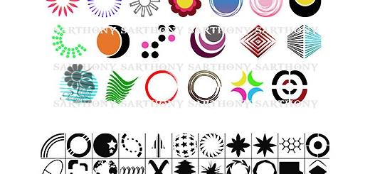 دانلود اشکال متنوع انتزاعی برای فتوشاپ - 104 Logo Shapes For Photoshop