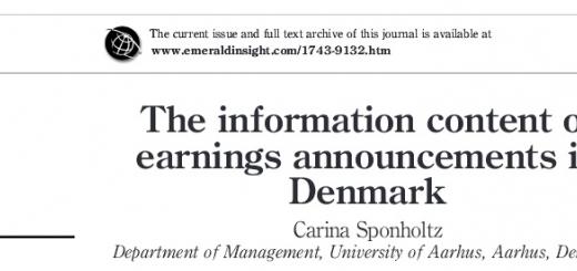 ترجمه مقاله اطلاعیه منفعت در دوره های سهام کم کوچک (براورد اطلاعات درآمد در دانمارک)