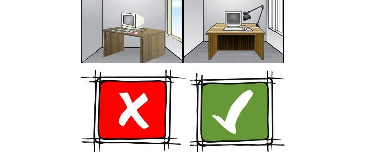 مکان قرار گیری صحیح میز شما در کنار پنجره