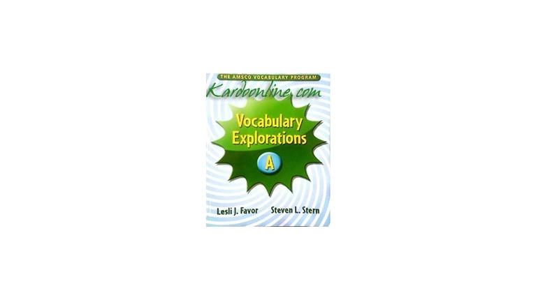Vocabulary Explorations Level A (Book + Teacher's Guide)