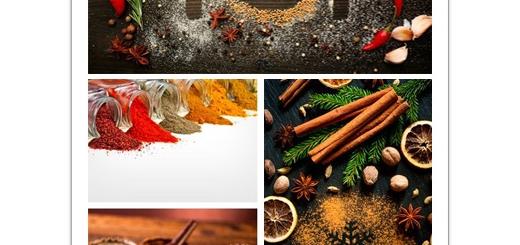 دانلود تصاویر با کیفیت ادویه، سبزیجات، نمک و فلفل، زردچوبه و ...