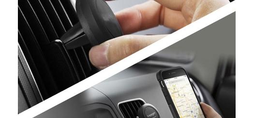 هولدر مغناطیسی موبایل با قابلیت اتصال آسان به دریچه کولر اتومبیل