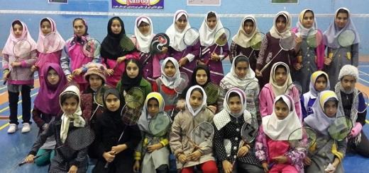 پایان رقابت های بدمینتون آموزشگاه های دخترانه جهرم مقطع ابتدایی