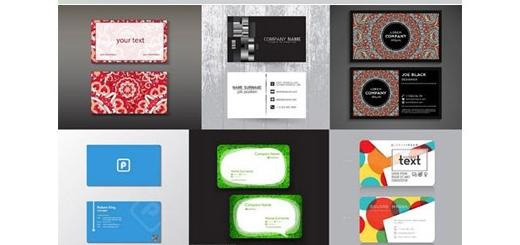 دانلود تصاویر وکتور کارت ویزیت های گرافیکی