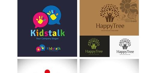 دانلود تصاویر وکتور آرم و لوگوی کودکان