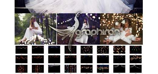 تصاویر پوششی نور بوکه جادویی Magic Shine Bokeh Photoshop Overlays