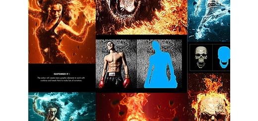 دانلود اکشن فتوشاپ ایجاد افکت آتش بر روی تصاویر