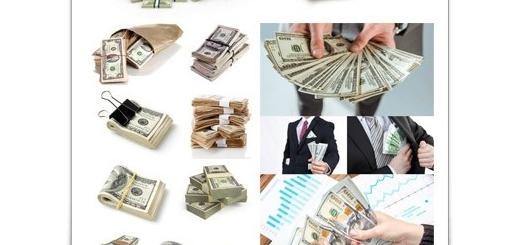 دانلود تصاویر با کیفیت دلار، دسته اسکناس دلار و دلار در دست