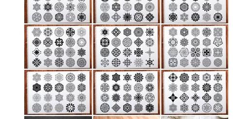 دانلود 500 تصویر وکتور عناصر تزئینی ماندالا مناسب برای چاپ بر روی لباس، چوب، تابلو و ... به همراه آموزش ویدئویی
