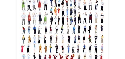 دانلود تصاویر با کیفیت مردم با مشاغل مختلف در پس زمینه سفید