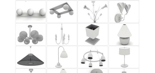 دانلود مدل های آماده سه بعدی آرچ مدل - انواع مدل های شیک لامپ و لوستر و آباژور ... - شماره 03