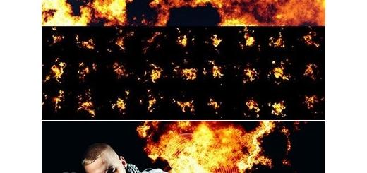 دانلود 80 براش فتوشاپ شعله انفجار آتش واقعی به همراه آموزش ویدئویی