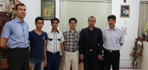 دیدار جمعی از اعضای هیئت بدمینتون با رئیس اداره ورزش و جوانان