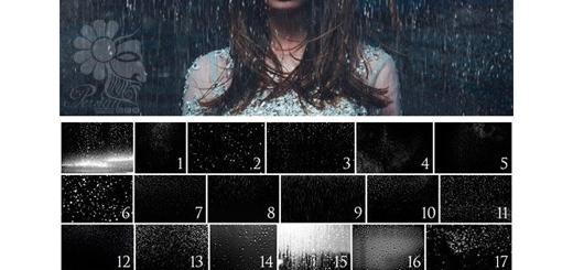 دانلود 30 براش فتوشاپ باران