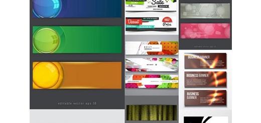 دانلود تصاویر وکتور قالب آماده بنر با طرح های انتزاعی