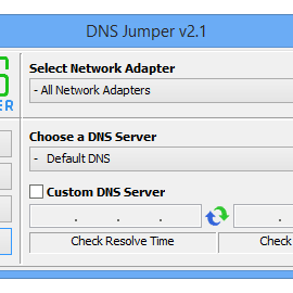 دانلود نرم افزار افزایش سرعت اینترنت DNSJUMPER