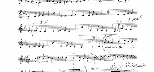 نت شوخ و شنگه . دمویر نازنین . درس ۶۵ هنرستان تار ۱ با حاشیه نویسی نیما فریدونی