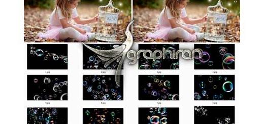 دانلود تصاویر پوششی حباب آب Bubbles Photoshop Overlays