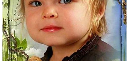 دانلود قاب عکس دیجیتال کودک با طرح شیر