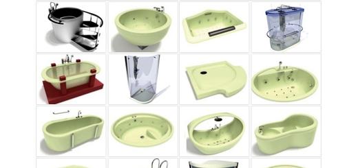 دانلود مدل های آماده سه بعدی آرچ مدل - وان حمام، دوش، پانل دوش، جکوزی، سونا و ... - شماره 15