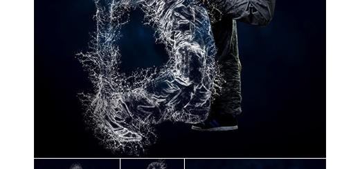 دانلود اکشن فتوشاپ ایجاد افکت انفجار آب