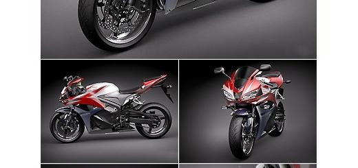 دانلود مدل آماده سه بعدی موتور سیکلت هوندا