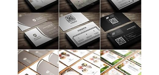دانلود 6 قالب لایه باز کارت ویزیت های متنوع