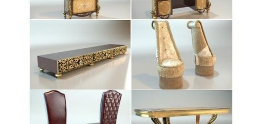 دانلود 32 مدل آماده سه بعدی میز، کمد، تخت خواب و کنسول سلطنتی